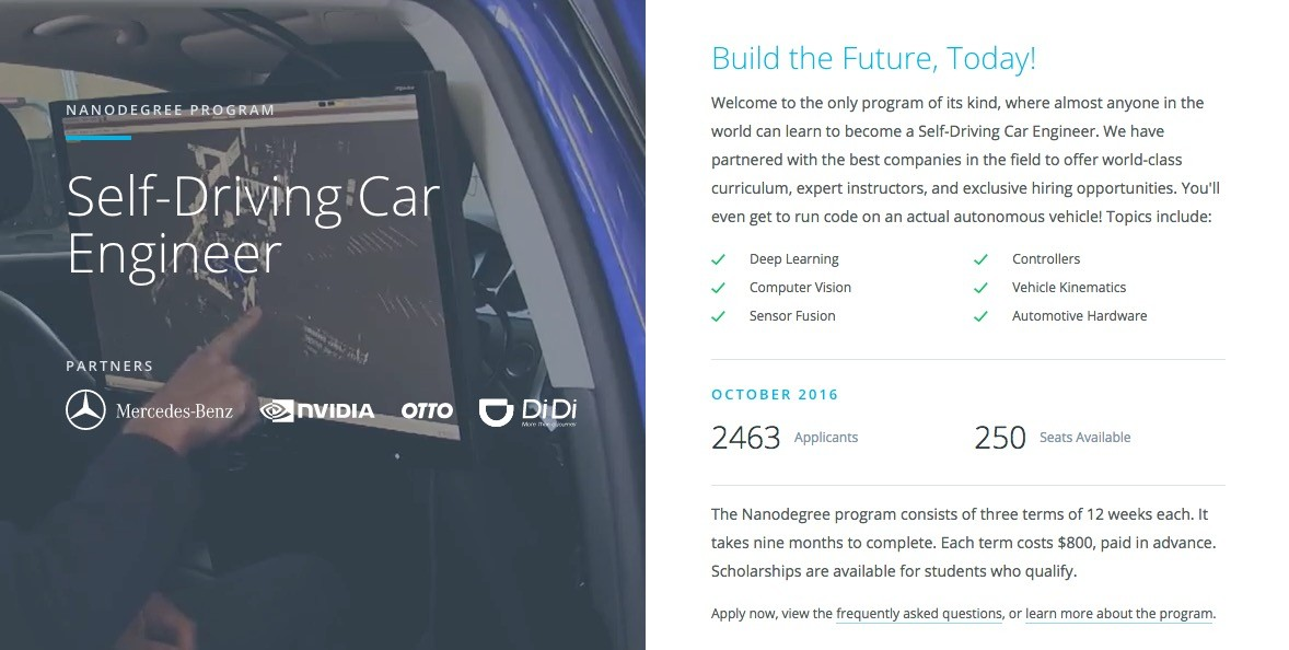 Udacity CEO Says Self-Driving Car Engineers Are