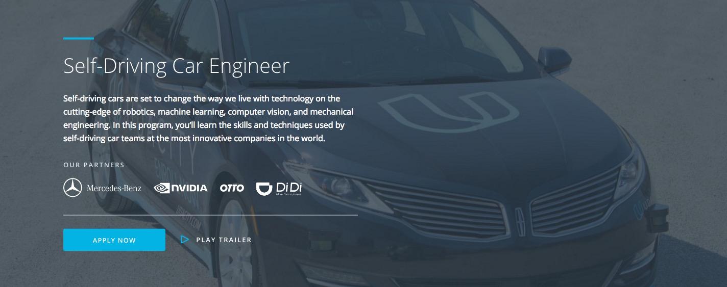 Udacity Opens Nanodegree Program For Self-Driving Car