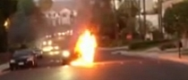 UFC Manager's BMW X6 M Bursts into Fire [Video]