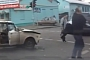 Ukrainian Lada Driver and Passenger Just Walk Away After Crash [Video]