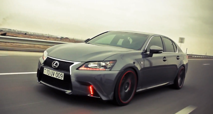 Lexus GS F Sport on Vossen Wheels Has Red LEDs [Video]
