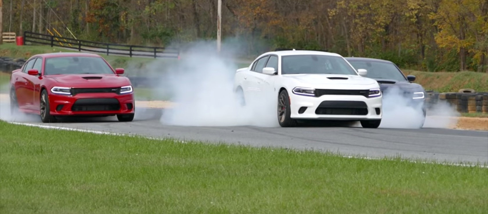 Ultimate Burnout Dodge Charger Srt Hellcat Celebrates