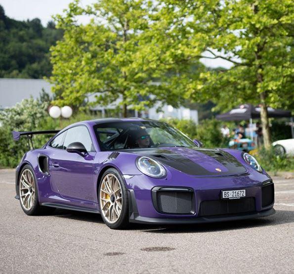 Ultraviolet Porsche 911 GT2 RS with Looks Brutal in