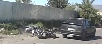 Unbelievably Reckless Driver Crashes into Biker [Video]
