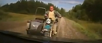 Unbelievably Stupid Head-On Sidecar Bike Crash [Video]