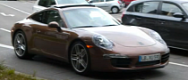 Undisguised, Brown and Awesome: 2012 Porsche 911 Spotted Again