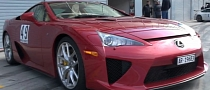 Unique Bordeaux Lexus LFA Revving! [Video]