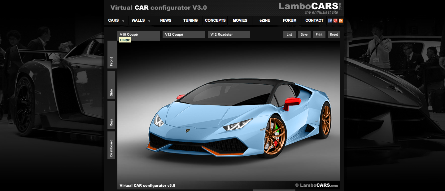 unofficial lamborghini huracan configurator is nifty autoevolution. Black Bedroom Furniture Sets. Home Design Ideas