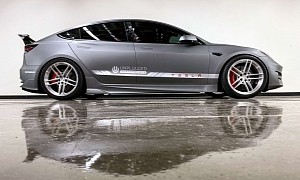 Tesla Model 3 by Unplugged Performance - Faster Than a McLaren F1 Around Tsukuba