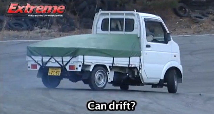 Unusual Drifting in Really Small Japanese Pickup [Video]