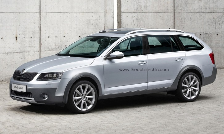 Upcoming Skoda Octavia Scout Renderings