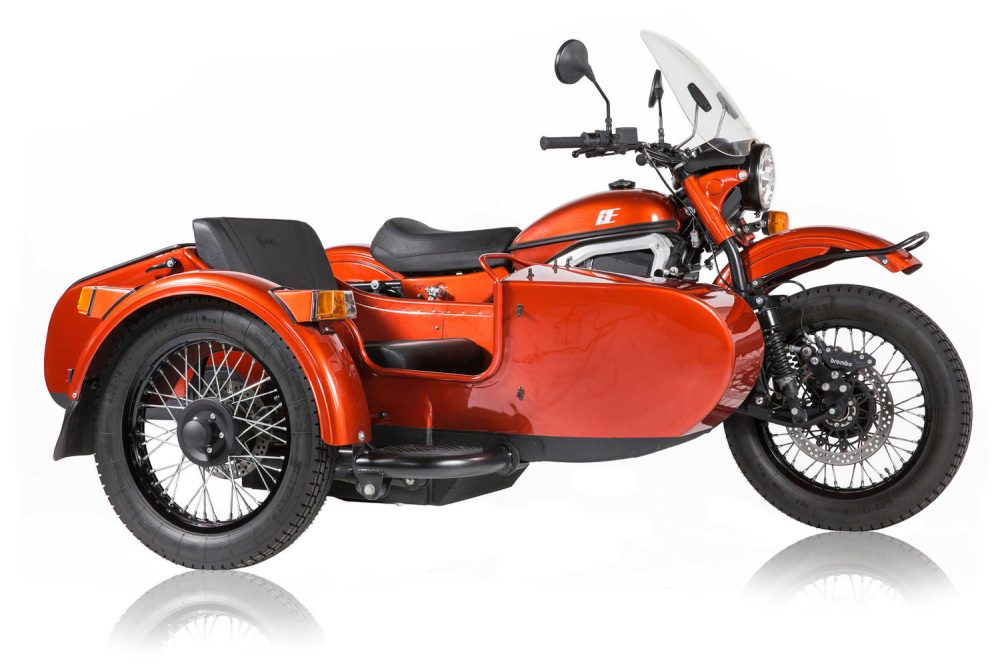 ural shows its first all electric sidecar motorcycle. Black Bedroom Furniture Sets. Home Design Ideas