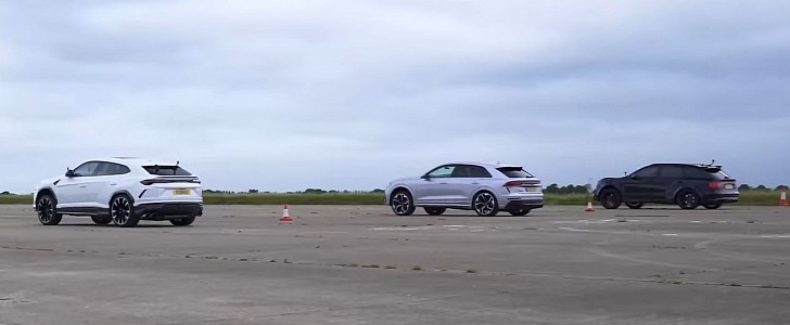 Urus vs. Audi RS Q8 vs. Bentayga vs. Cayenne: The Ultimate SUV Drag Race - autoevolution