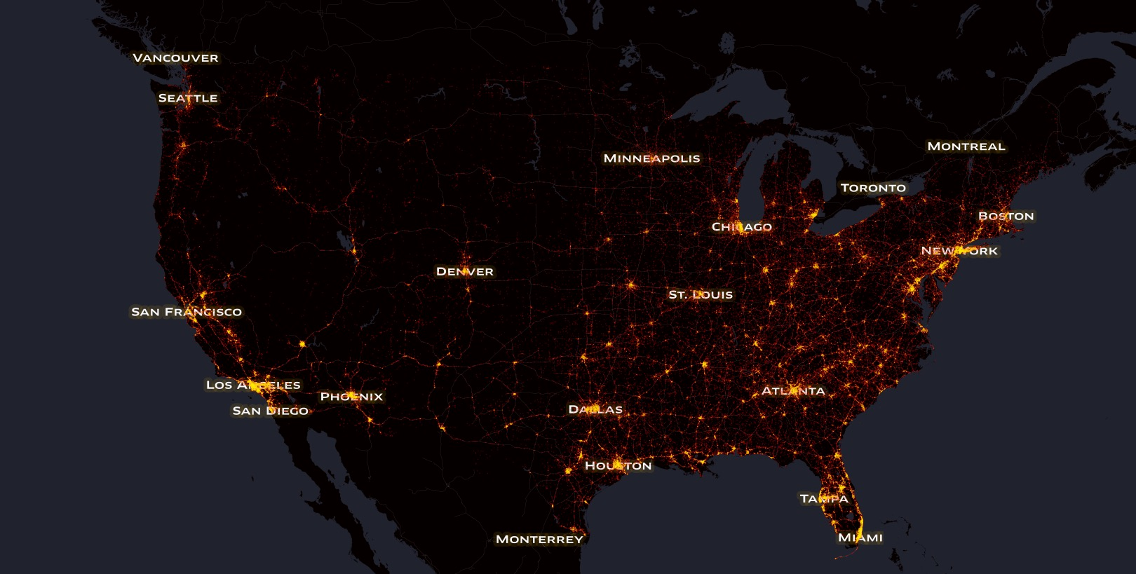 Interactive map of the us shows every single traffic casualty in the 5 photos gumiabroncs Image collections