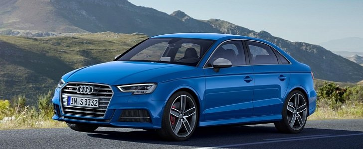 us spec 2017 audi a3 and s3 facelift revealed with virtual cockpit 1 8t is gone autoevolution. Black Bedroom Furniture Sets. Home Design Ideas
