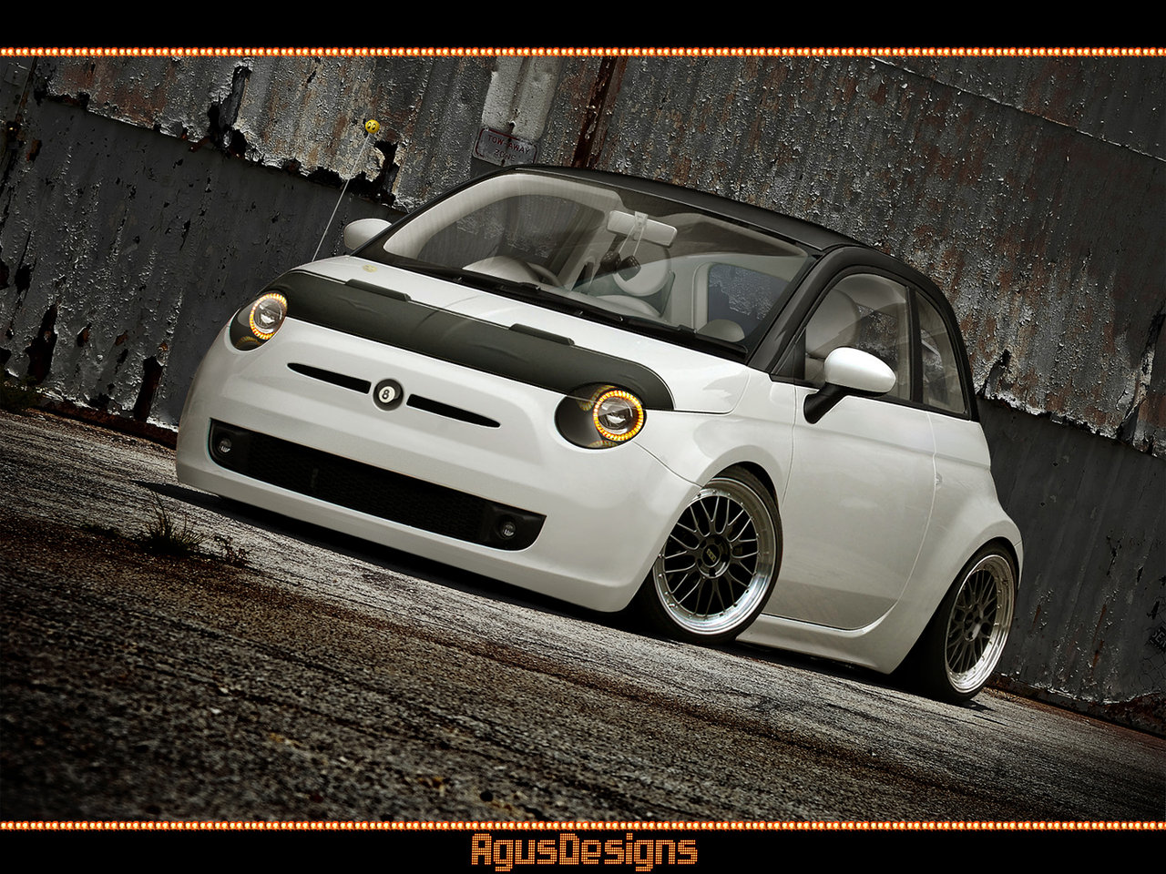us style custom fiat 500 rendered autoevolution. Black Bedroom Furniture Sets. Home Design Ideas