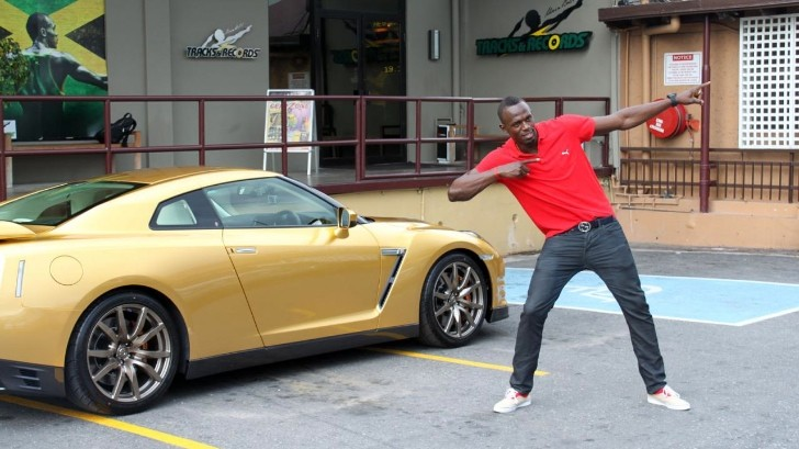 Usain Bolt Receives His Nissan GT-R Spec Bolt [Photo Gallery]