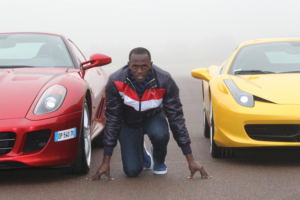 Usain Bolt Tests A Ferrari 458 Italia In Maranello Gallery