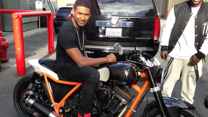 Usher Gets Custom Fighter Birthday Present [Photo Gallery]
