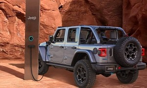 Utah Monolith Serves as a Charging Station for the 2021 Jeep Wrangler 4xe