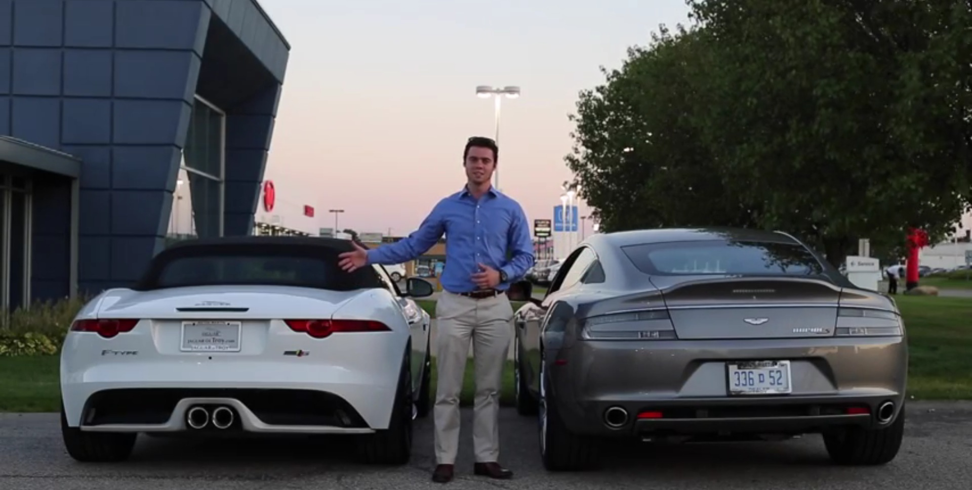 v6 jaguar f-type vs. v12 aston martin rapide s: which one sounds