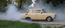 V8 Moskvitch Sleeper Drifting Is Funny [Video]
