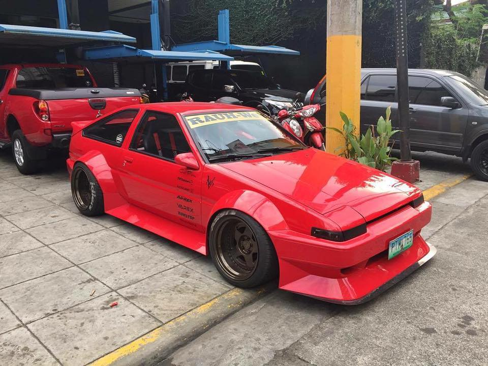 V8 Powered Toyota Ae86 Mixes Air Suspension With Rauh Welt Twist
