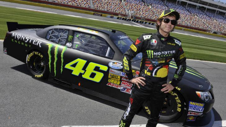 Valentino Rossi Does 185 MPH in a Nascar Beast [Photo Gallery]