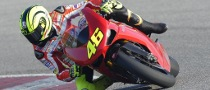 Valentino Rossi Tests Ducati 1198 Superbike at Misano