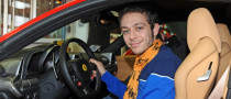 Valentino Rossi Tests Ferrari's F1 Simulator, New 458 Italia