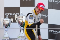 Davide Valsecchi celebrating victory in GP2 Asia opening race