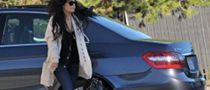 Vanessa Hudgens Goes Out in a Mercedes E350