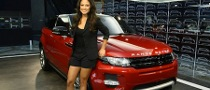 Vanessa Minillo Looks Hot Next to Range Rover Evoque