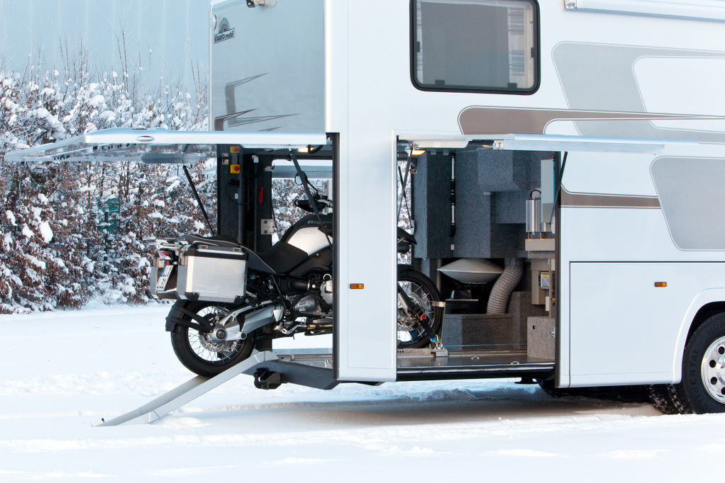 Book Of Motorhome With Motorcycle Storage In Germany By