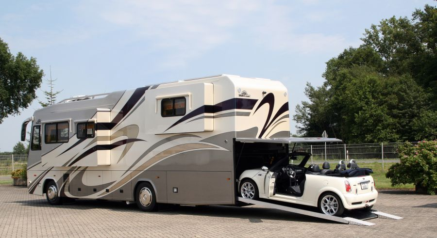 Vario perfect platinum motorhome with mini cabrio garage for Garage mercedes monaco