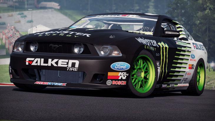 Vaughn Gittin Jr Drift Car And Mustang Rtr X In Nfs Shift 2 Unleashed Autoevolution