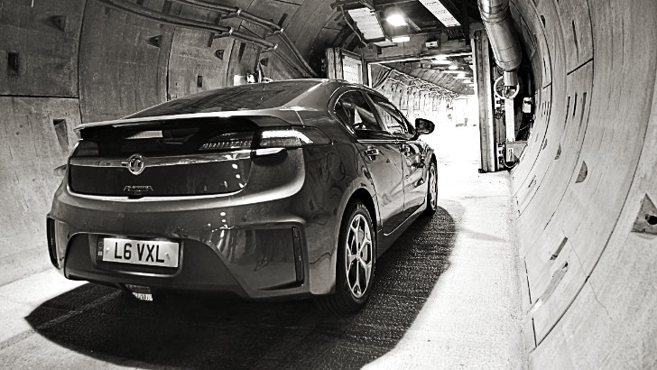 Vauxhall Ampera Successfully Driven Through Channel Tunnel