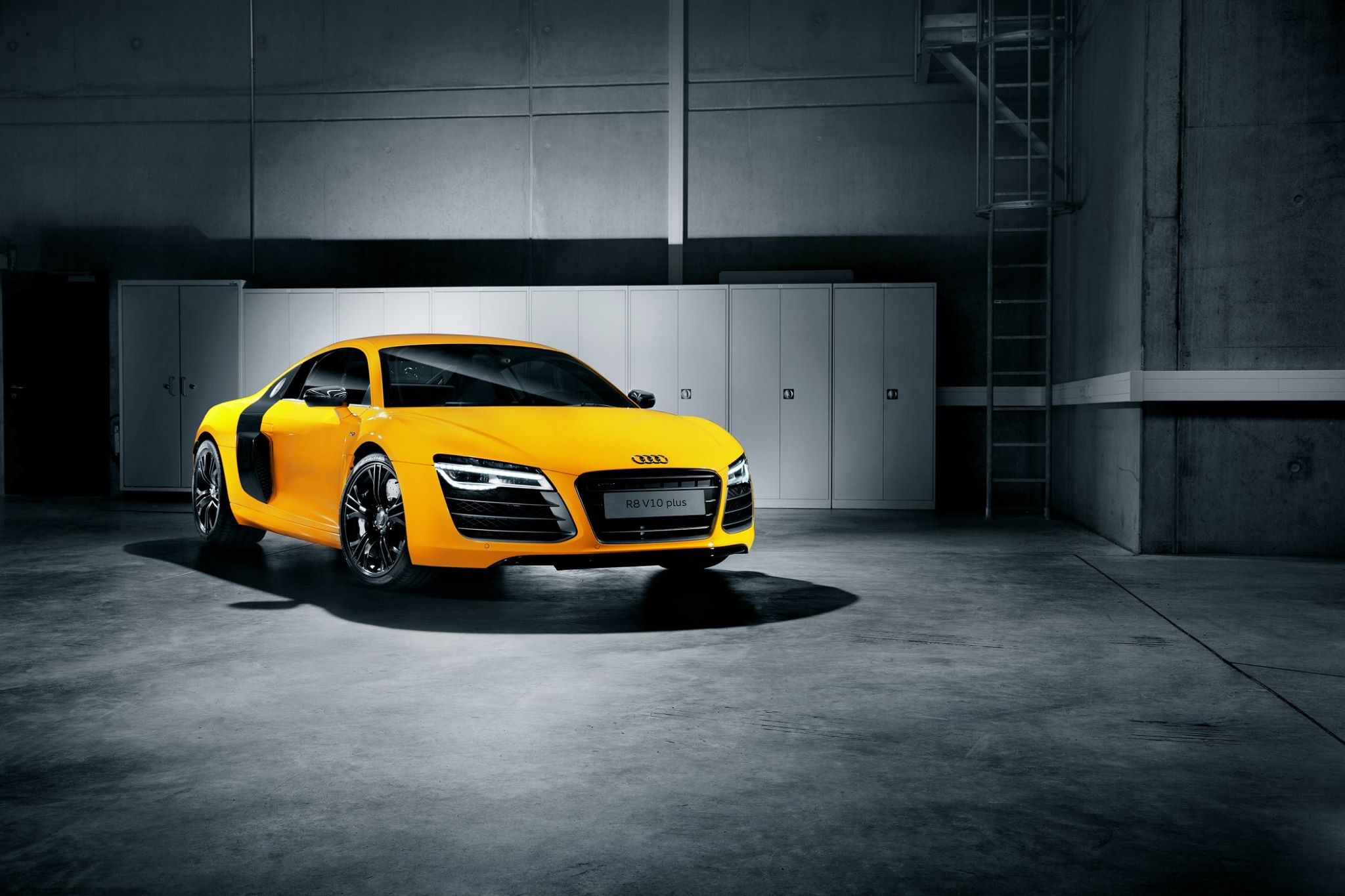 Vegas Yellow Audi R8 V10 Plus With Carbon Inserts Autoevolution