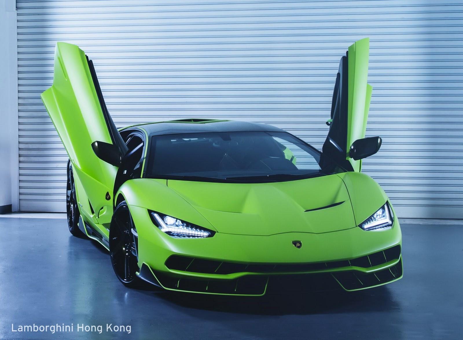 Verde Bronte Lamborghini Centenario Debuts in Hong Kong ...