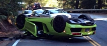 Verde Scandal Lamborghini Aventador Flips Over in California [Photo Gallery]