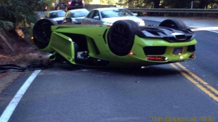Verde Scandal Lamborghini Aventador Flips Over In California Autoevolution