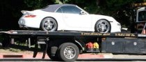 Victoria Beckham's Porsche 911 Turbo Breaks Down