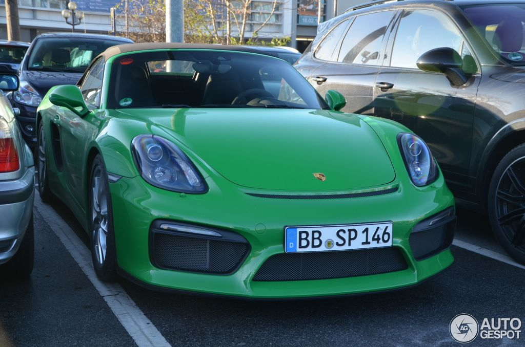 Viper Green 2016 Porsche Boxster Spyder Is A Nod To Retro