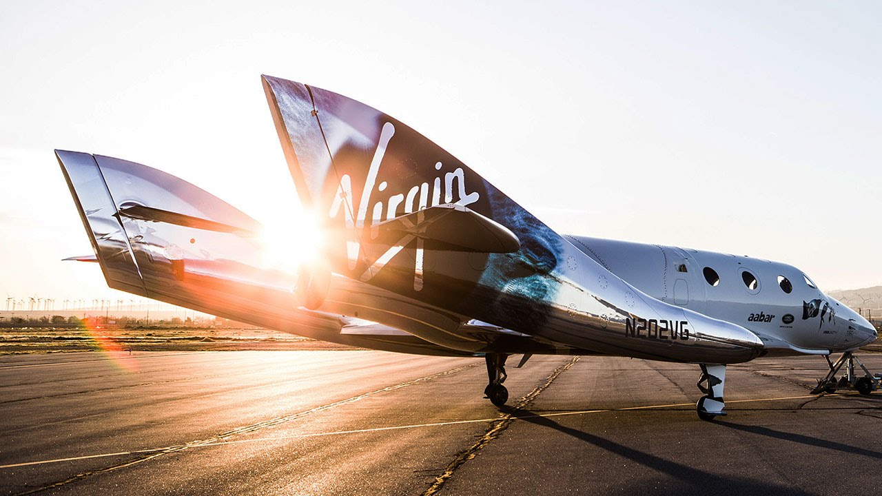 Virgin Galactic rocket plane blasts to the edge of space