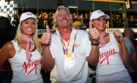 Richard Branson will make the F1 paddock more often in 2010