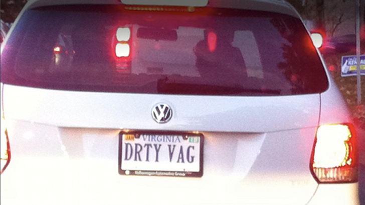 Virginia Vanity Plate Is Extra Dirty