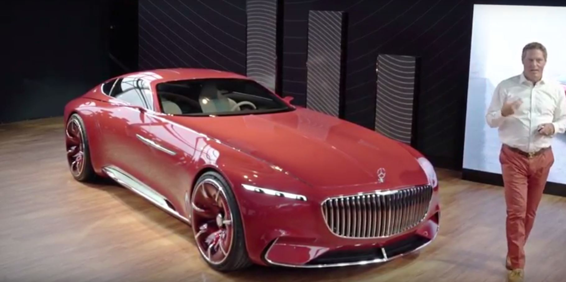 vision mercedes-maybach 6 looks even bigger in real life videos