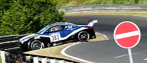 VLN Crash Peugeot RCZ Crashed at Nurburgring Race [Video]
