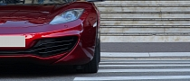 Volcano Red McLaren MP4-12C in Casino Square [Video]