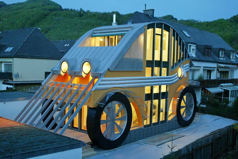 Volkswagen Beetle-Inspired House and Restaurant Built in Austria - autoevolution